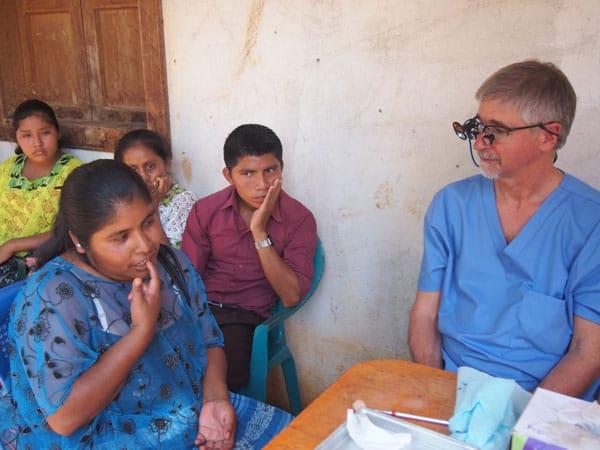 doctor during humanitarian visit